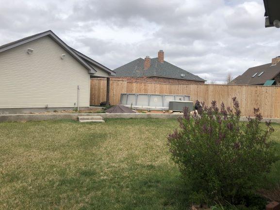 Backyard North side/pool/shop/mancave