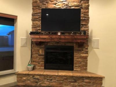 Stone Fireplace/Living