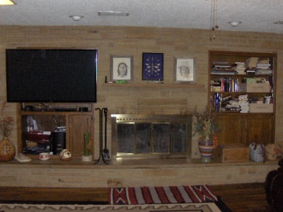 Living Room/ woodburning Fireplace