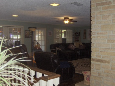 From Kitchen to Family Room and to Basement